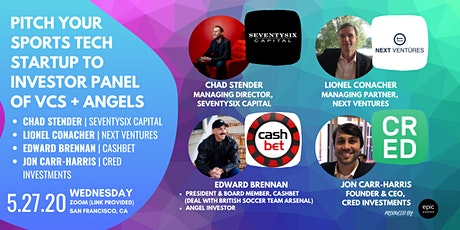 Pitch Your Sports Tech Startup to Investor Panel of VCs and Angels (On Zoom) tickets