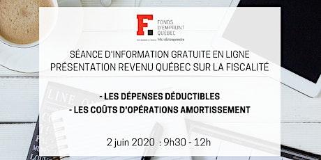 Présentation Revenu Québec sur la fiscalité billets