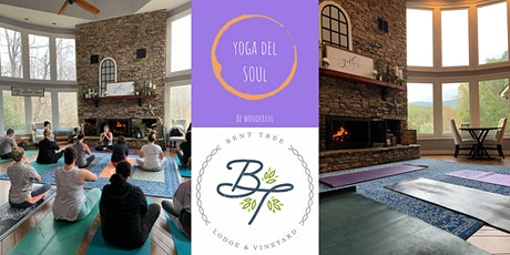 Yoga, Mimosas & Brunch in the meadow outside of Bent tree Lodge & Vineyard. tickets