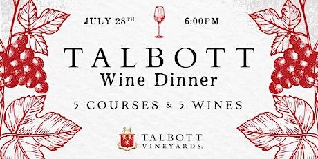 Talbott Winery Dinner at Heaton's Vero Beach! tickets