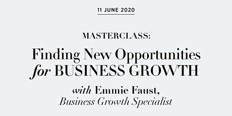 Masterclass: Finding New Opportunities for Business Growth tickets