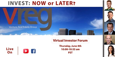 Virtual Investors Forum - Invest: NOW or LATER? tickets