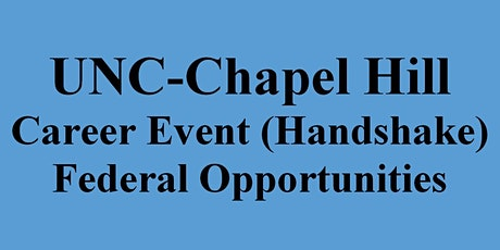 Career Event for UNC-Chapel Hill Students & Graduates (HANDSHAKE) tickets