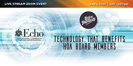 Technology that Benefits HOA Board Members tickets