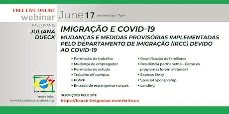 Imigração & COVID-19 tickets