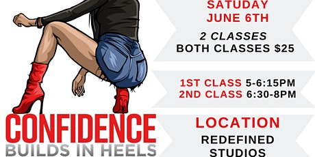 Confidence Builds In Heels Cincinnati (JUNE 6th Class) tickets