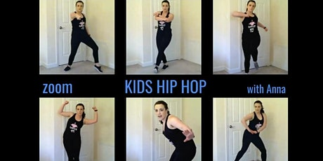 Zoom Hip Hop KIDS Ages 4-9 Tuesday 5pm biglietti