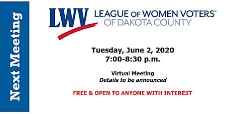 LWVDC June 2020 Meeting tickets