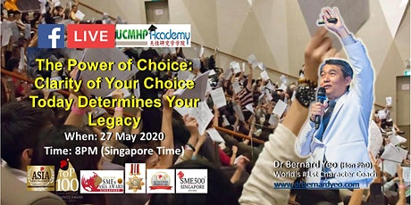 FB LIVE: The Power of Choice. Clarity of Your Choice Determines Your Legacy tickets