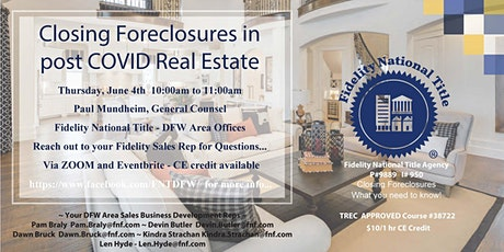 Closing Foreclosures - CE Class for Real Estate Professionals tickets