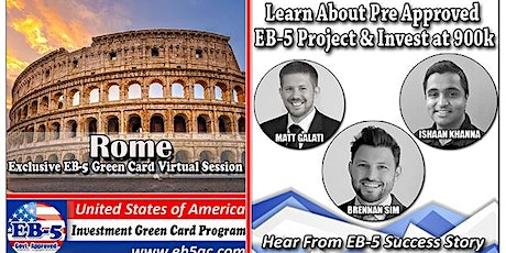 Rome's EB-5 American Green Card Virtual  Market Series-  Meet the Expert & Success Story (ONLINE EVENT) tickets