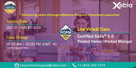 Certified SAFe Product Owner/Product Manager (POPM) l LIVE VIRTUAL/REMOTE tickets