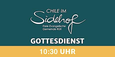 10:30 Uhr Gottesdienst (ohne Kinderbetreuung) Tickets
