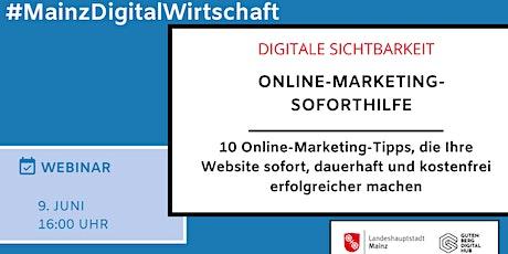 Online-Marketing-Soforthilfe Tickets