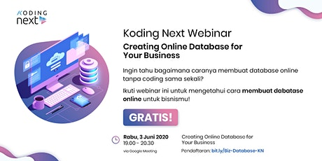 FREE WEBINAR: Creating Online Database for Your Business tickets