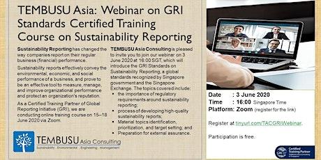 Webinar on GRI Standards Certified Training Course tickets