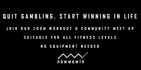 ZOOM Workout & Community Meet Up billets
