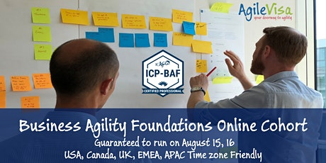 ICAgile ICP-BAF Business Agility Foundations Certification - Live Online entradas