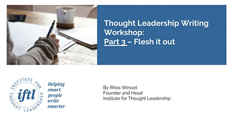 Thought Leadership Writing Workshop: Part 3 - Your First Draft tickets