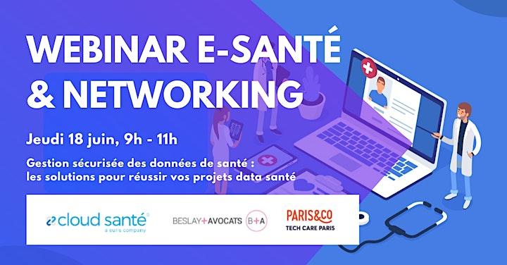 Image pour WEBINAR E-SANTÉ & NETWORKING –  GESTION SECURISEE DES DONNEES DE SANTE