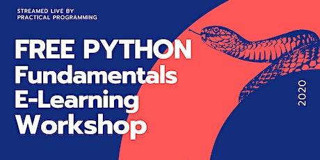 Learn Python Online Free - Python Fundamentals Live tickets