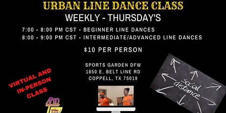 Urban Line Dance Virtual Class - Beginner Line Dance tickets