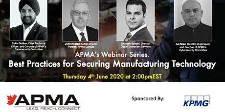 APMA Webinar: Best Practices for Securing Manufacturing Technology tickets
