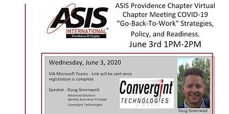 ASIS Providence - Chapter Educational Virtual Event tickets