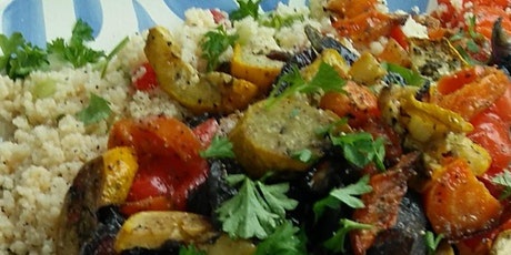 After school:  Roasted vegetable couscous sharing platter tickets