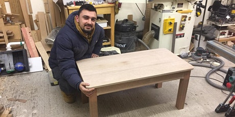 Woodwork project intermediate -Make a coffee table, 9am-5pm tickets