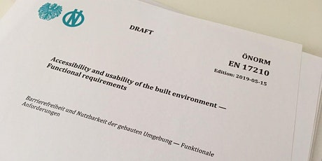 Önorm EN17210, Barrierefreiheit und Nutzbarkeit der gebauten Umgebung Tickets