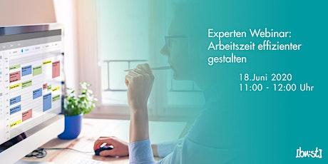 Experten-Webinar: Arbeitszeit effizienter gestalten Tickets