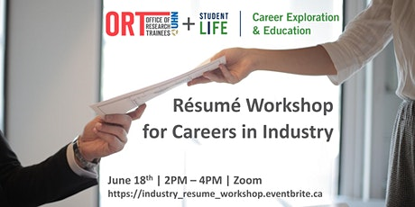 Résumé Workshop for Careers in Industry tickets
