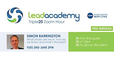 Lead Academy Triple 20 Zoom Hour with Simon Barrington tickets