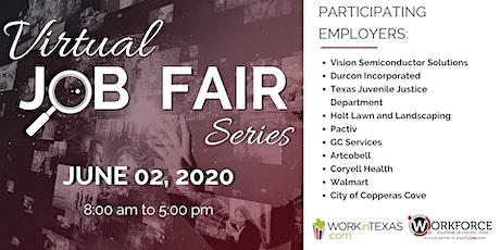 Virtual Job Fair Series - Central Texas Employers tickets