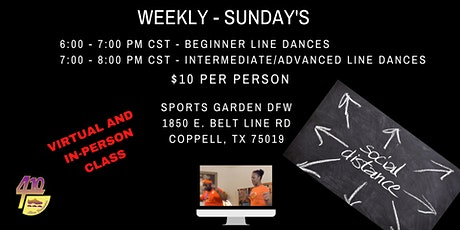 SUNDAY - Urban Line Dance Virtual Class- Beginner Line Dance tickets