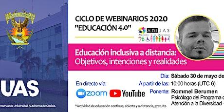 Educación inclusiva a distancia: Objetivos, intenciones y realidades entradas