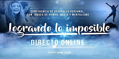 Conferencia desarrollo personal online entradas