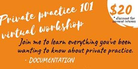 Mental health-Private Practice 101 Virtual workshop tickets