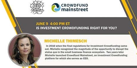 Is Investment Crowdfunding Right for You tickets