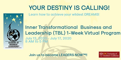 Inner Transformational Business &  Leadership (TBL) 1-Week Virtual Program tickets