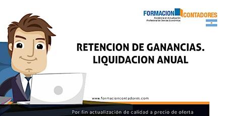 Grabación - Retención de Ganancias - Liquidación anual entradas