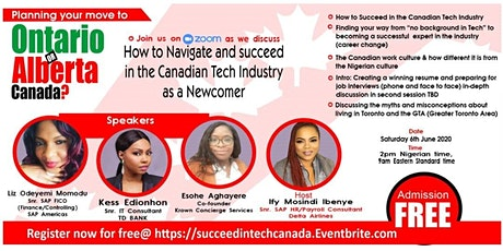 Navigating and Succeeding in the Canadian Tech. Industry as a Newcomer tickets