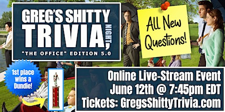 """The Office"" Trivia Night 5.0 (ALL-NEW Online Live-Stream Event) tickets"