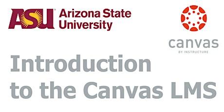 ASU Canvas Introduction (Online) tickets