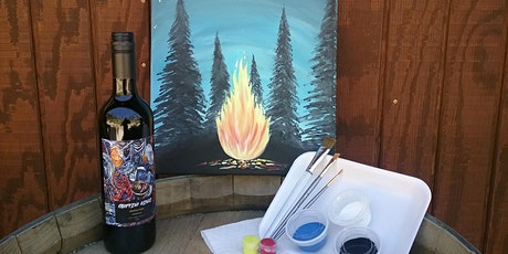 Starry Night Campfire Virtual Paint n Sip tickets