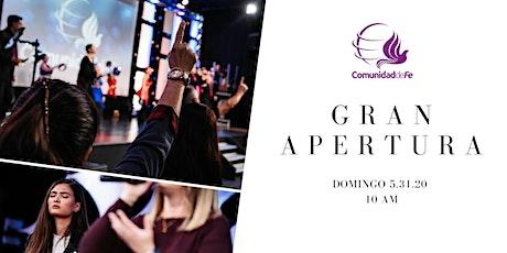 Comunidad de Fe Ministries Reapertura tickets