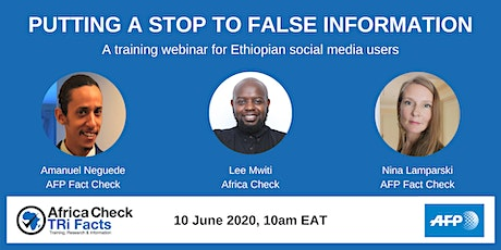 Training webinar: Putting a Stop to False Information tickets