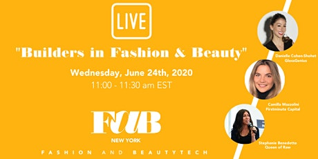 """FAB NY LIVE """"Builders in Fashion & Beauty"""" tickets"""