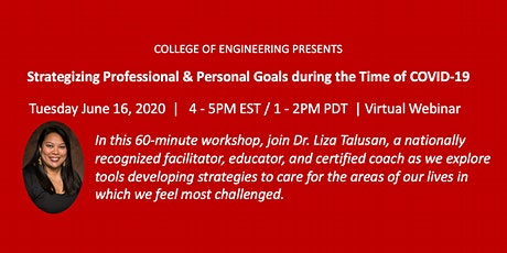 Strategizing Professional & Personal Goals during the Time of COVID-19 tickets